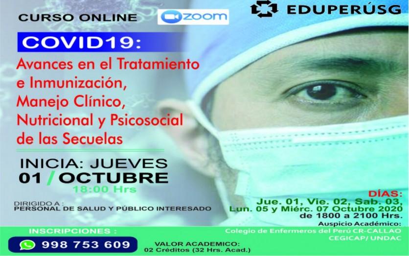 """""""COVID 19: Tratamiento, Inmunización, manejo se secuelas."""