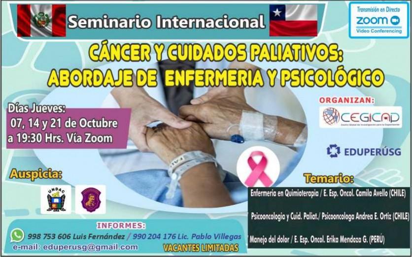 Seminario Internacional Cáncer  y Cuidados Paliativos