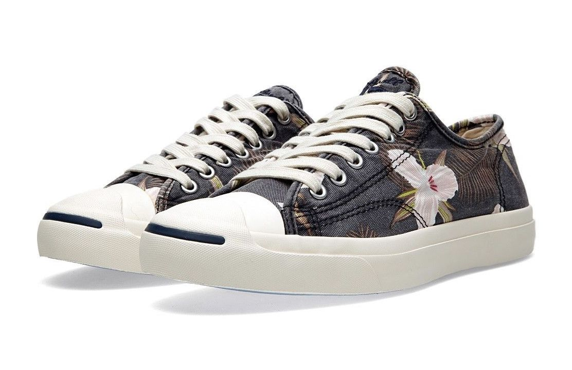 converse jack purcell ox floral navy 2