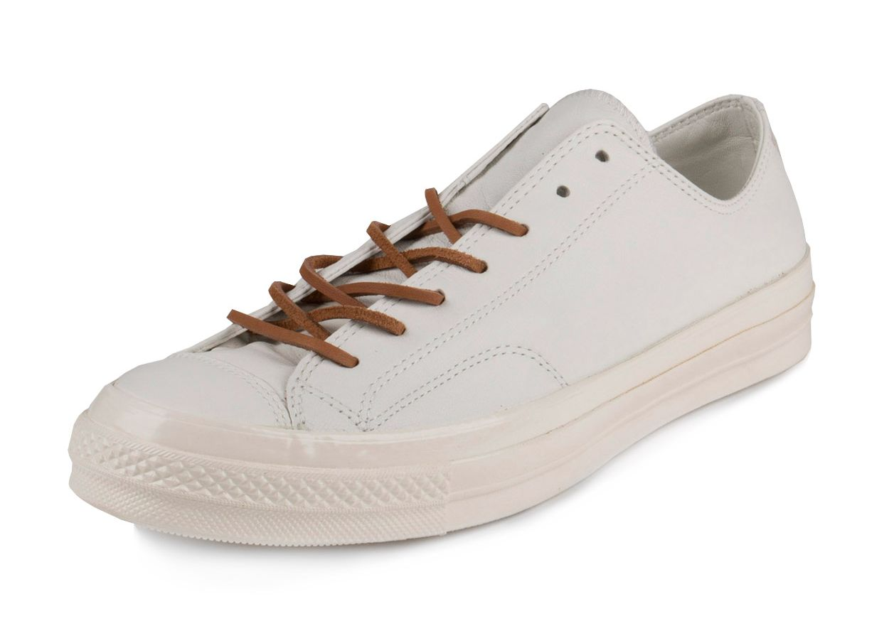 2eefec3681a0 Converse ALL STARS Mens 147115C Chuck Taylor 70 OX Egret-Tan Leather 1.jpg