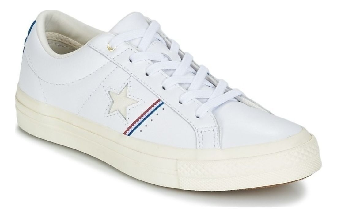 467a95ac270635 Converse One Star OX Low Top Leather Sneaker 159694C White-Enamel Red-Egret  3