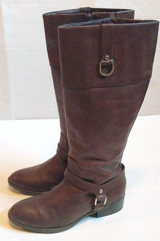 Lauren by Ralph Lauren Brown Leather Riding Boots 1.jpg