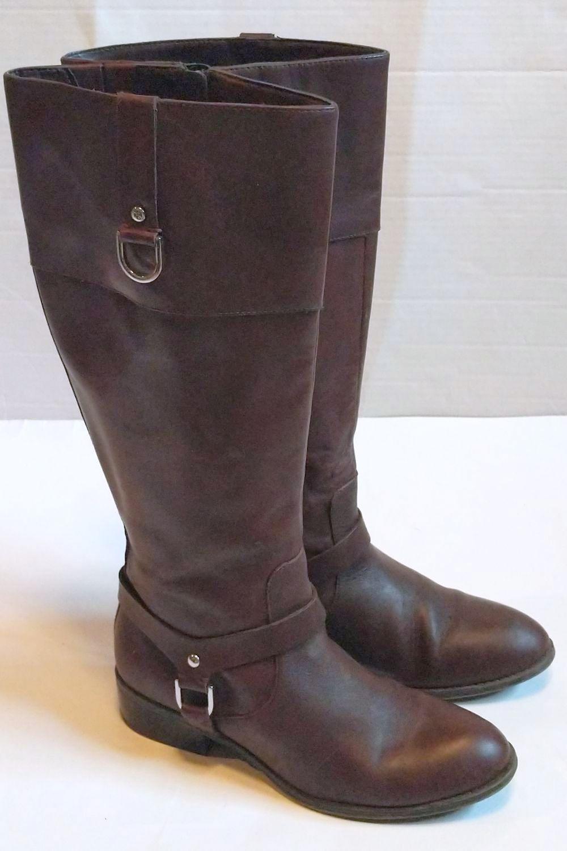 Lauren by Ralph Lauren Brown Leather Riding Boots 2.jpg