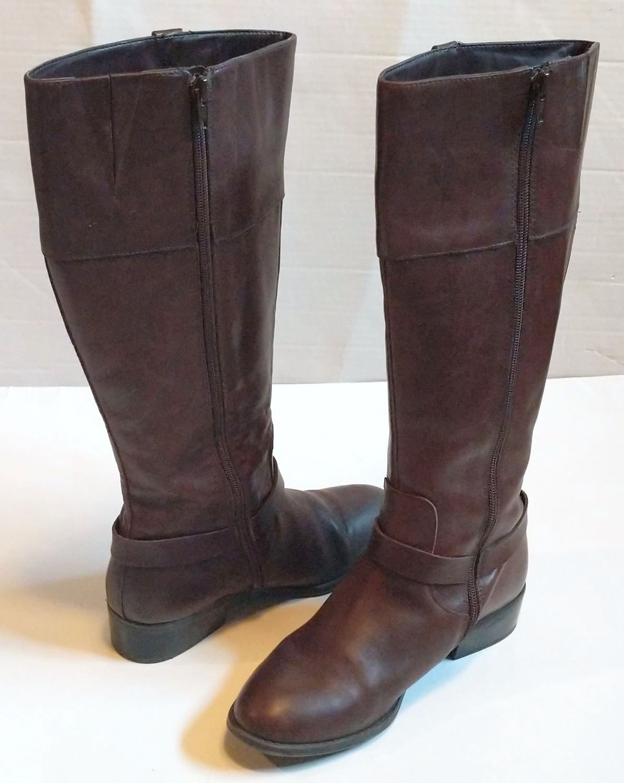 Lauren by Ralph Lauren Brown Leather Riding Boots 3.jpg