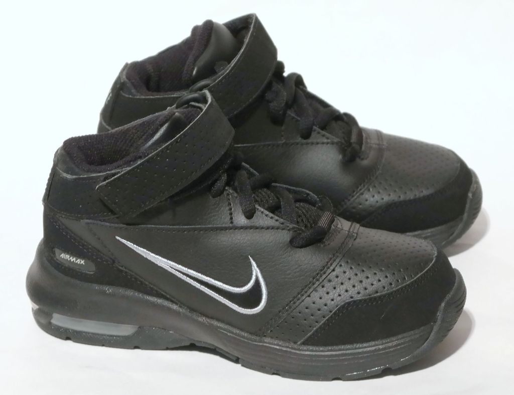 new arrival 10824 58e7e Details about NEW RARE NIKE AIR MAX BLACK LEATHER HIGH PRESCHOOL BOY SHOES  11.5