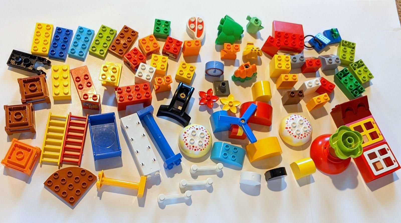 Lego Duplo 10 X transparente claro azul oscuro 4er piedras vidrio bloque de creación//l275