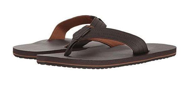 NEW VANS T Street Brown Flip Flops