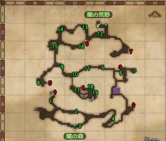 ドラクエヒーローズ2闇の峡谷マップ