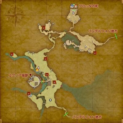 ドラクエ11マップ-ユグノア地方