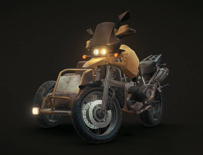 PUBG_サイドカー付きオートバイ