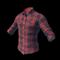 pubg skin Checkered Shirt (Red)