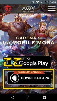 AoV ダウンロード Android