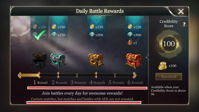 AoV-Daily Battle Rewards(デイリーバトルレワード)-効率-ゴールド稼ぎ-最大量