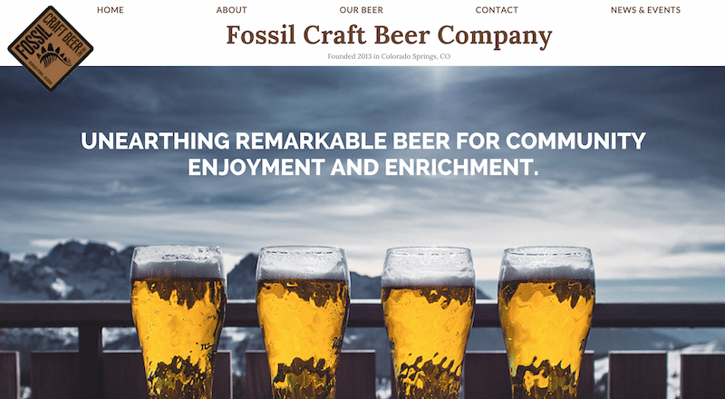 Screenshot of Fossil Brewing