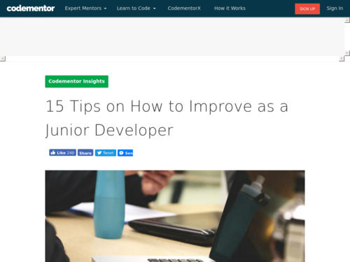 Image for: 15 Tips to Improve as a Junior Developer