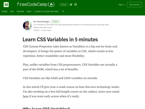 Image for: Learn CSS Variables in 5 Minutes