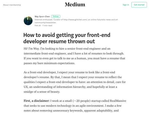 Image for: How to Avoid Getting your Front-end Developer Resume Thrown Out
