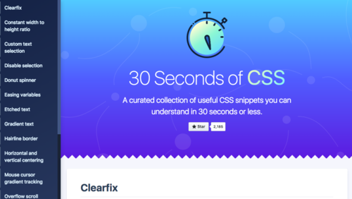 Image for: 30 Seconds of CSS