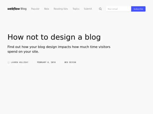Image for: How Not to Design a Blog