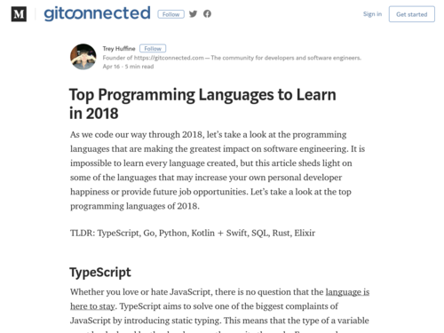 Image for: Top Programming Languages to Learn in 2018