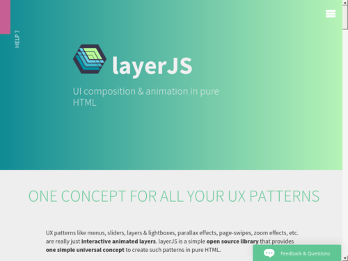 Image for: layerJS:  UI composition & animation in pure HTML
