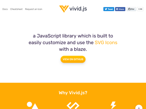 Image for: Vivid.js | Customizable SVG Icons