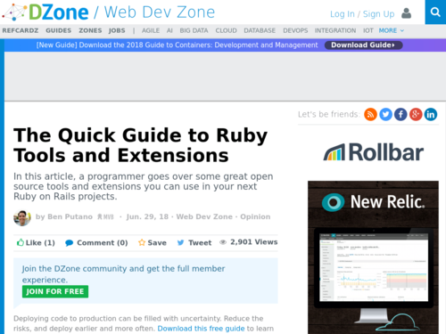 Image for: Quick Guide to Ruby Tools and Extensions