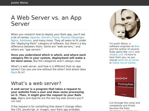 Image for: A Web Server vs. an App Server