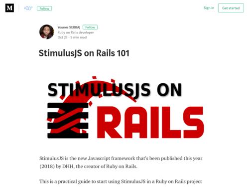 Image for: StimulusJS on Rails 101