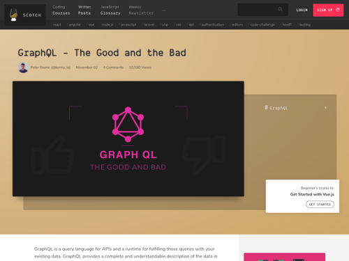 Image for: GraphQL - The Good and the Bad