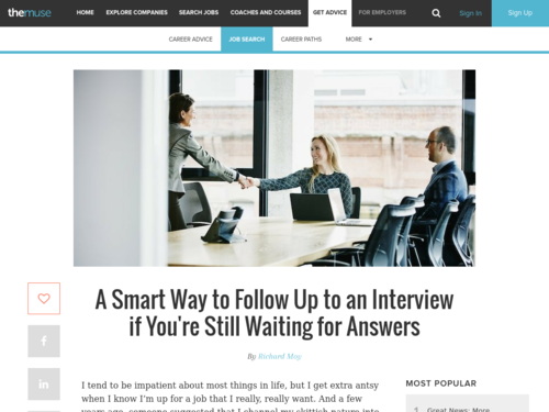 Image for: A Smart Way to Follow Up to an Interview