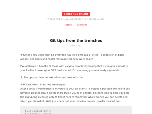 Image for: Git Tips from the Trenches