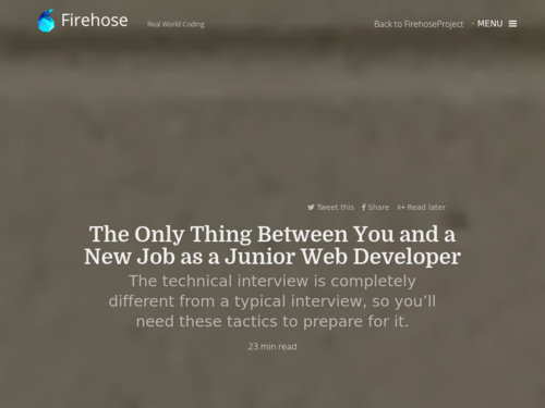 Image for: Getting your First Junior Web Developer Job