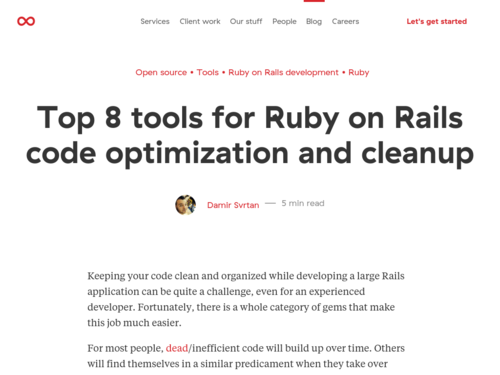 Image for: 8 Tools for Ruby on Rails Code Optimization