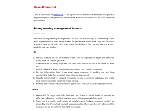 Image for: 44 Engineering Management Lessons