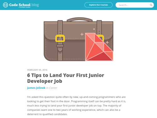 Image for: 6 Tips to Land Your First Junior Dev Job