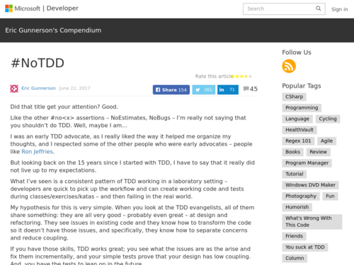 Image for: TDD Did Not Live Up to Expectations