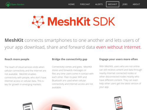 Image for: MeshKit: Share Data without Internet