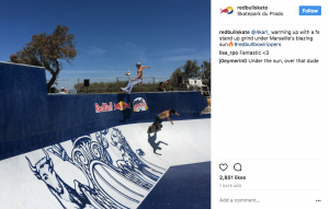 Red Bull Skateboarding Instagram Multiple Account Example
