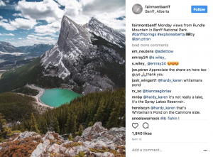 @fairmontbanff - multiple instagram of fairmont