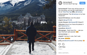 multiple instagram of fairmont banff