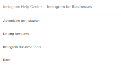 Instagram help for business accounts
