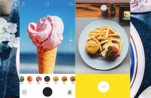 Foodie app for creating short videos of your food pictures