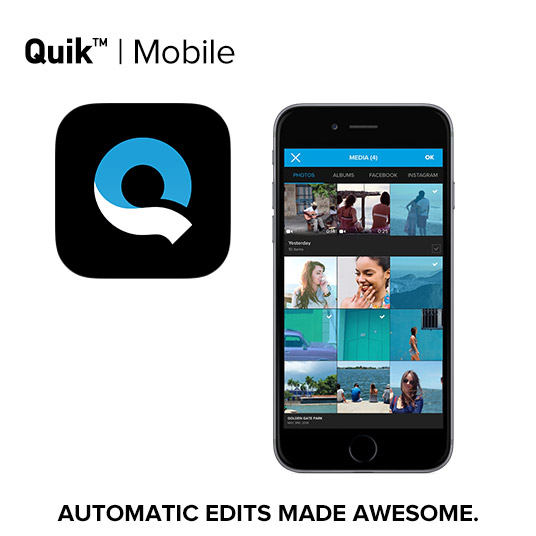 Quick smartphone app for video editing on the go