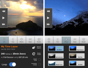 Lapse It smartphone app for timelapse videos