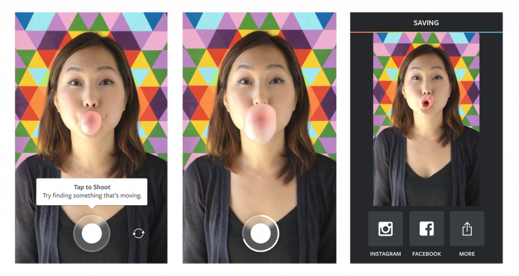 Boomerang app for editing GIFs and videos for your Instagram feed
