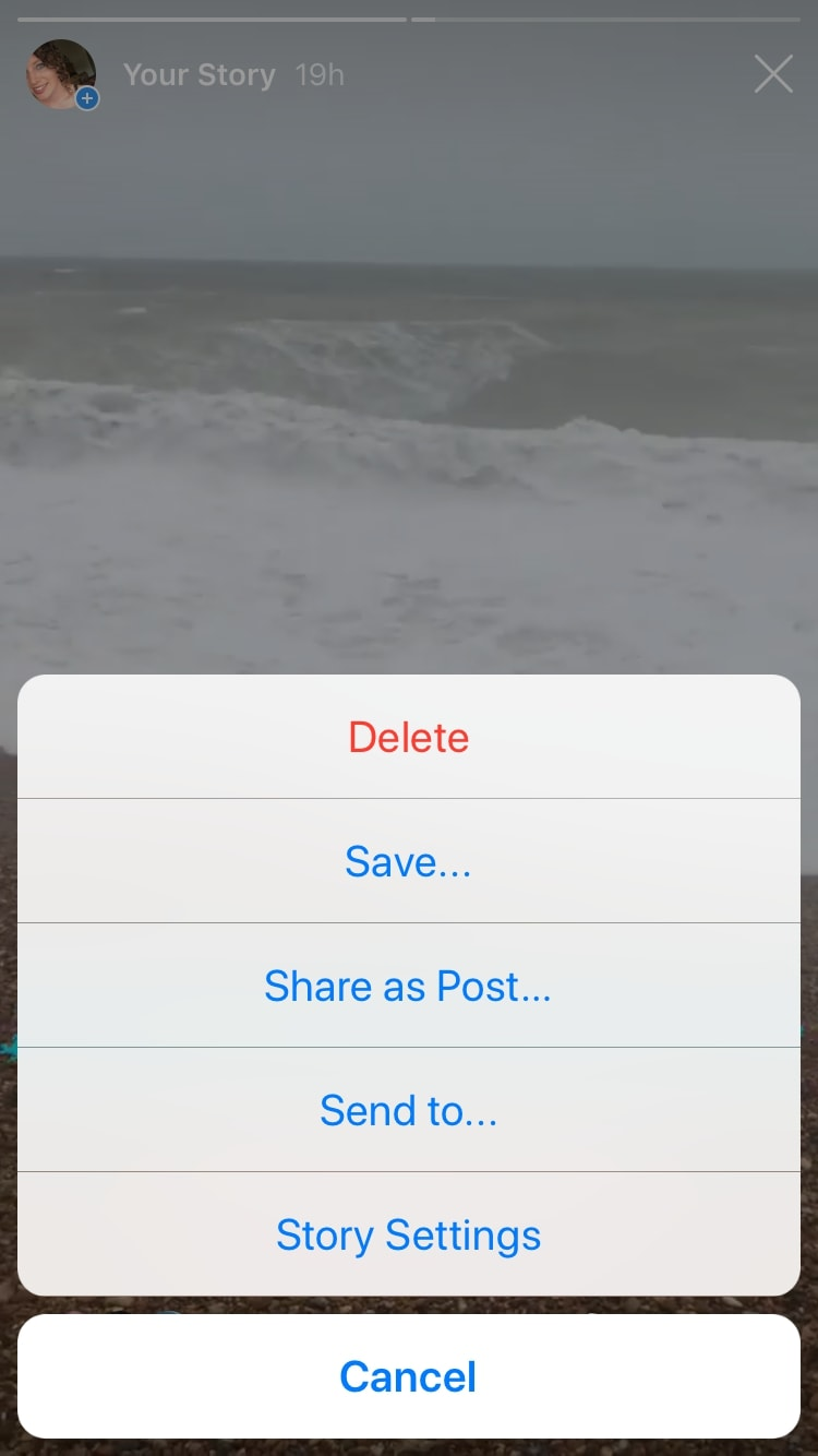 How to save someone elses instagram story on iphone