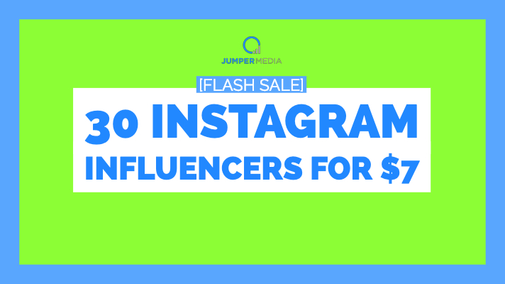 [FLASH SALE] Get a Custom List of 30 Instagram Influencers for $7