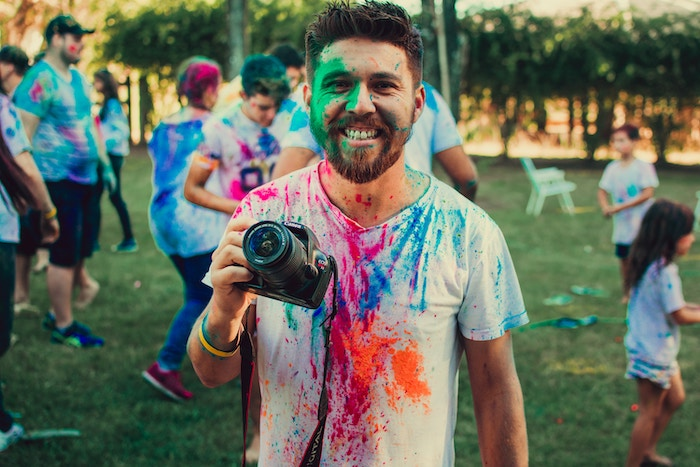 Photographer Behind The Scenes Photo at ColorRun