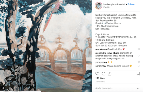 Kimberly Brooks Instagram Artist Profile